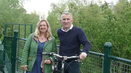 Rod Cantrill with Cllr Lucy Nethsingha