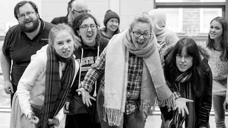The cast of 'Annie' in rehearsals.