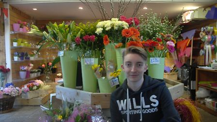 Jaymey McIvor, who has started his own florist business