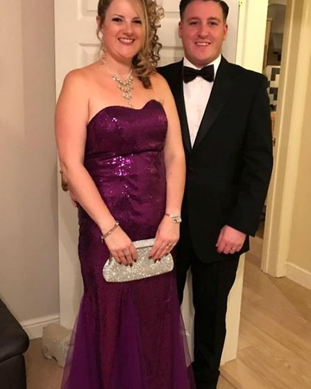 Charlene Knowles after losing weight, with her husband
