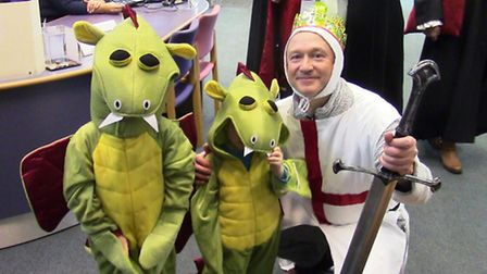 The March Mummers - and dragons - toured March with their short play before Christmas.