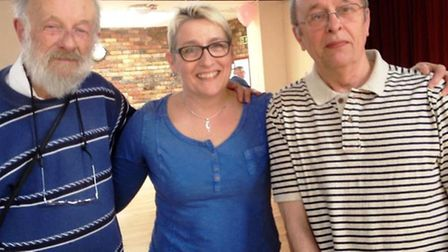 YANA was the idea of t Kathryn Buck, seen here with Ted and Peter at the Cuppa Cake and Company