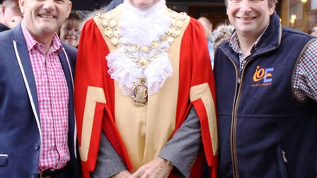 Race organiser Austen Dack, Mayor of Ely Councillor Ian Lindsay and Oliver Boutwood of Isle of Ely P