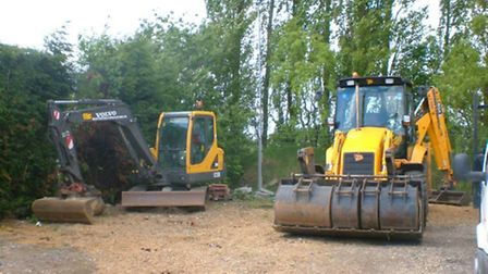Thousands of pounds worth of equipment - including a six-tonne cement breaker - has been stolen from