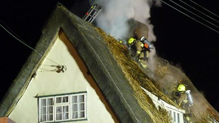 Thatched cottage fire in Great Sampford. Picture: Chris Kidman