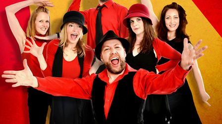 The cast of Showstopper! The Improvised Musical.