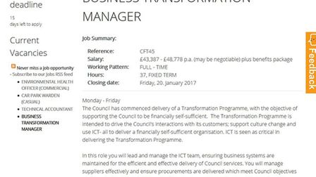 East Cambs Council looking for IT manager as a matter of some urgency