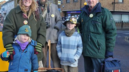 Whittlesey Straw Bear Festival 2016. Cousins Family from Brancaster.Picture: Steve Williams,