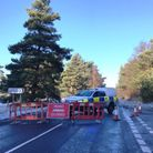The B1112 was closed as police investigated the fatal crash