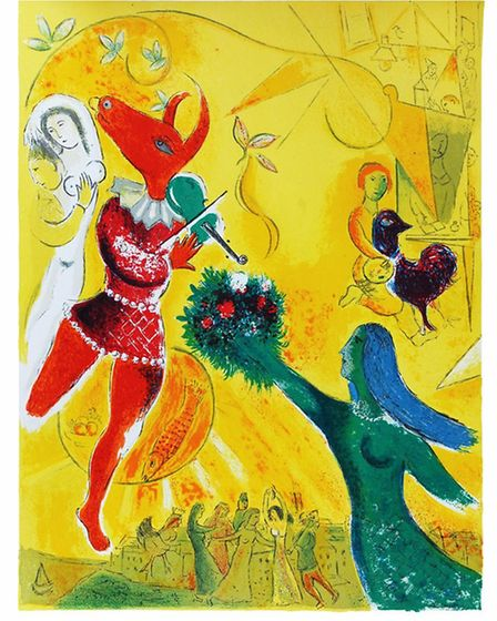 One of the Marc Chagall pieces.