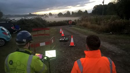 Anglian Water is to trial new drone technology in Wisbech this year.