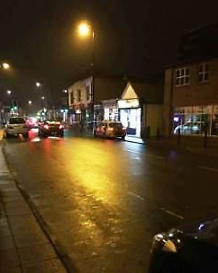 The assault happened on Station Road, March last night.