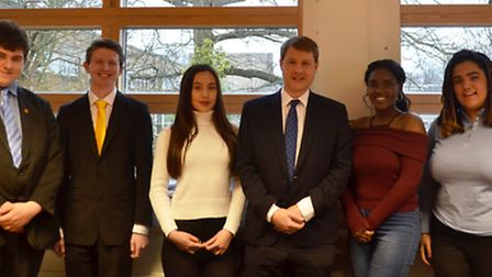 Minister for the Constitution Chris Skidmore visited Long Road Sixth Form College this week.