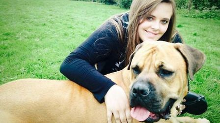 Megan Parsons with her furry friend.