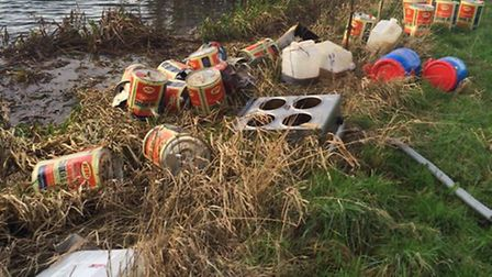North Bank, Whittlesey, fly tipping