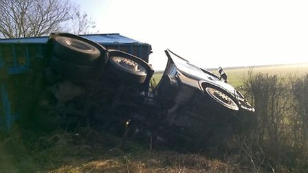 An over turned lorry closed the A10 from 5am on Tuesday January 24 for a period of six hours.