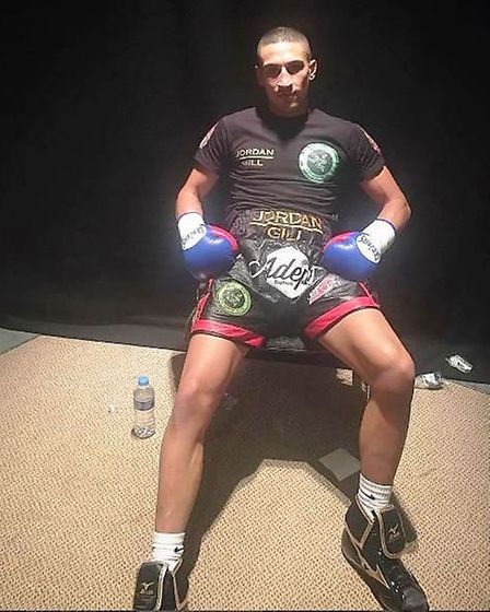 Jordan Gill sat in his dressing room for four hours before learning his fight had been cancelled. Ph