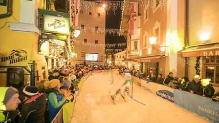 Dunmow's Kieran Norris won a race slalom through the streets of Zell am See in Austria