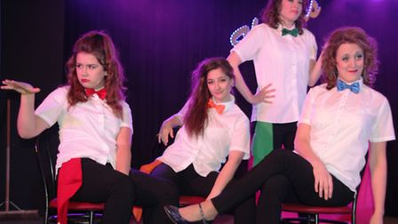 Cassie Rouse, Maddie Palmer, Kerry Hibbert and Jenny Taylor-Surridge. PHOTO Mike Rousse.