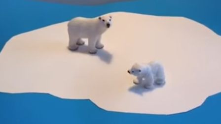 A stop-motion film about the plight of the polar bear made by a Soham schoolgirl Megan Jones has gon