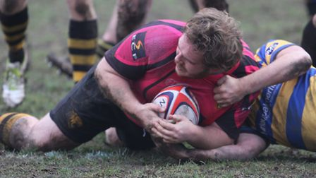 Ricky Neale dotted down the devisive try in Ely Tigers' victory over Upminster last weekend. PHOTO: