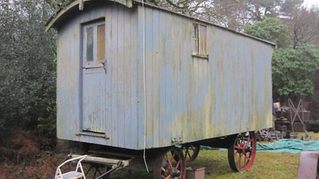 A living van, thought to be one of only three made by Charles Burrell and Sons,Thetford, still in ex