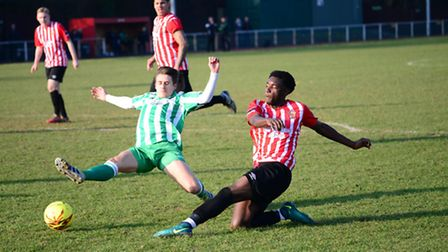 Leyton Orient loanee Charley Baker couldn't prevent Soham Town Rangers falling to a narrow 1-0 defea