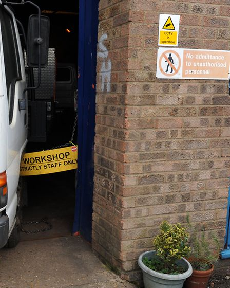 Renault campervan in Les Crofts' unit in Chatteris. It should have been ready in October 2016 but in