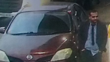 Police want to speak to this man in connection with a fuel scam on the A142. PHOTO: Cambridgeshire C