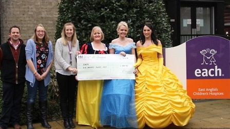 Harrison and Murray and Nottingham Building Society raise funds in memory of Mikayla Clark. Left to