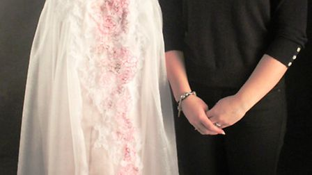 """Textiles student Libby Chessor has designed an """"ethereal and romantic"""" bridal gown and veil inspired"""