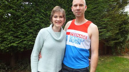 Paul Gibson is taking on the London Marathon this April for Teenage Cancer Trust. His daughter Beth,