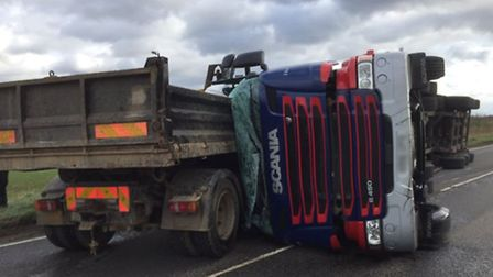 The A141 in Westry is closed after a three vehicle accident this afternoon (February 23). PHOTO: Fen