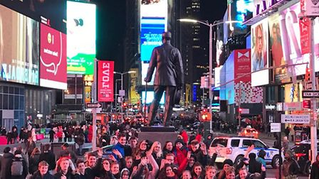 King's Ely theatre and drama students spent half term in New York. PHOTO: King's Ely