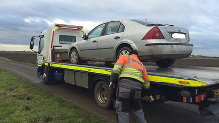 This car was confiscated after hare courses were caught in the act in March in 2015.