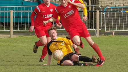 Alex Theobald netted his 14th goal of the season in Ely's 3-0 win.