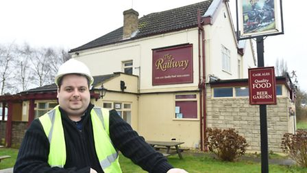 New licensee Simon Bains outside The Railway pub in Whittlesey.