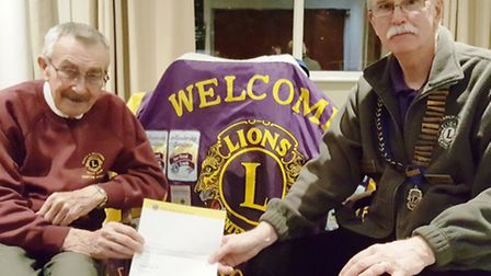 Trevor Quince with Lions Clubs International president Ian Groome.