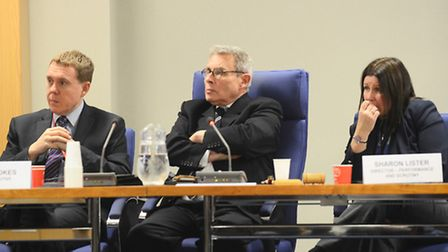 Police accountability forum at the Council Offices in King's Lynn. Pictured is the Police and Crime