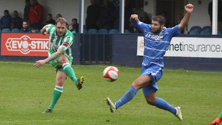 Robbie Mason played his first minutes since becoming Soham Town Rangers boss last weekend.