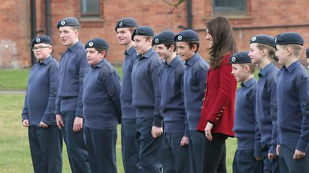 Duchess of Cambridge visits RAF Wittering PHOTO: RAF Wittering