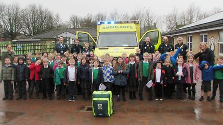 Ely St John Primary School gets a visit from the East of England Ambulance Service Trust EEAST PHOTO