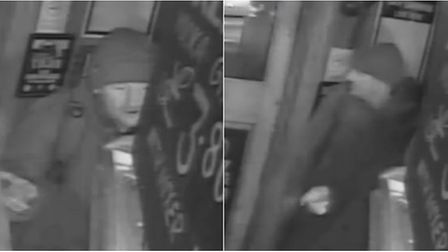 Police want to speak to this man in connection with a knifepoint robbery in Cambridge on February 5.