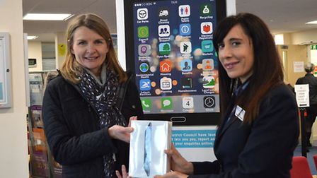 Click and Connext competition winner and Helen Sarkies, customer services team leader at East Cambri