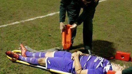 Danny Emmington is recovering at home after suffering severe whiplash and concussion following a cla
