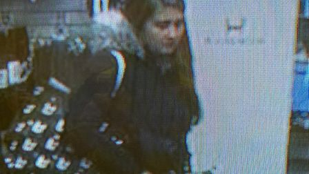 Police want to speak to the woman in connection with the theft of £195 of candles from a Wisbech sho