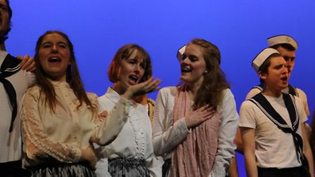 Rehearsal scenes from Cambridge University G&S Society and their production of HMS Pinafore. PHOTO:
