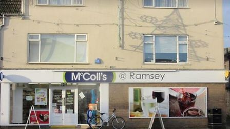 A man armed with a knife threatened staff at McColl's in Ramsey last night before stealing £150. PHO