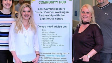 Sarah Burton, housing officer at East Cambs District Council (second left), Angela Parmenter, housin