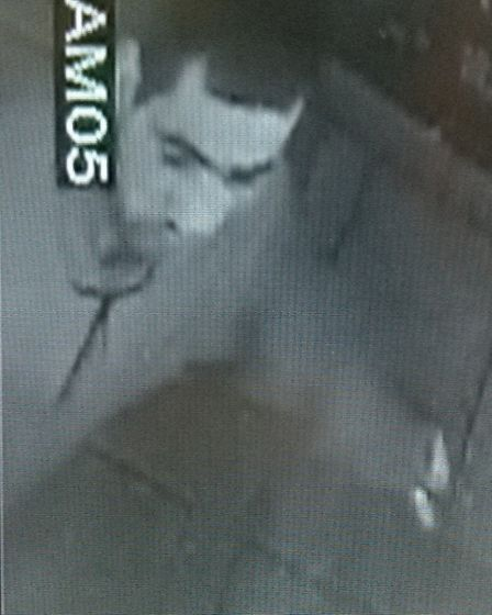 Police want to speak to this man in connection with the theft of three barrels of cooking oil from o